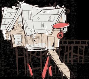 Haus auf Stelzen