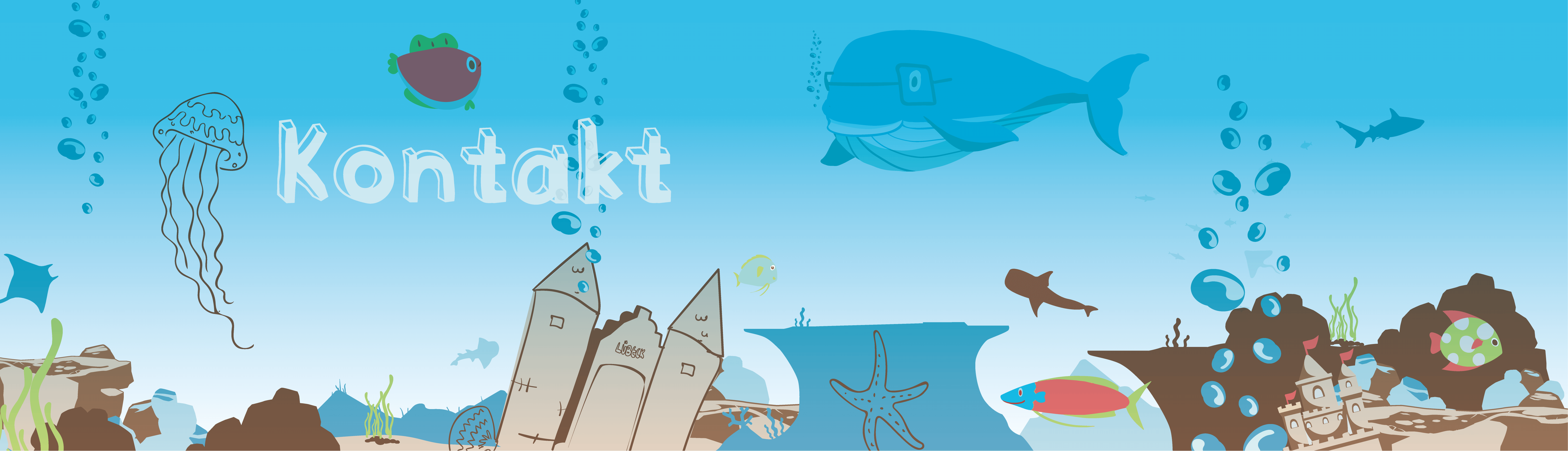 Holstentor in Unterwasserwelt